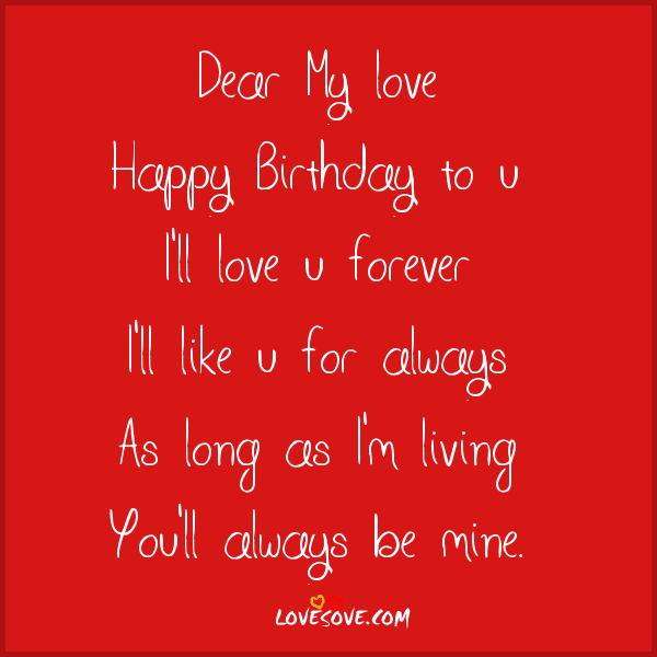 Birthday Love Greeting Cards: Birthday Cards